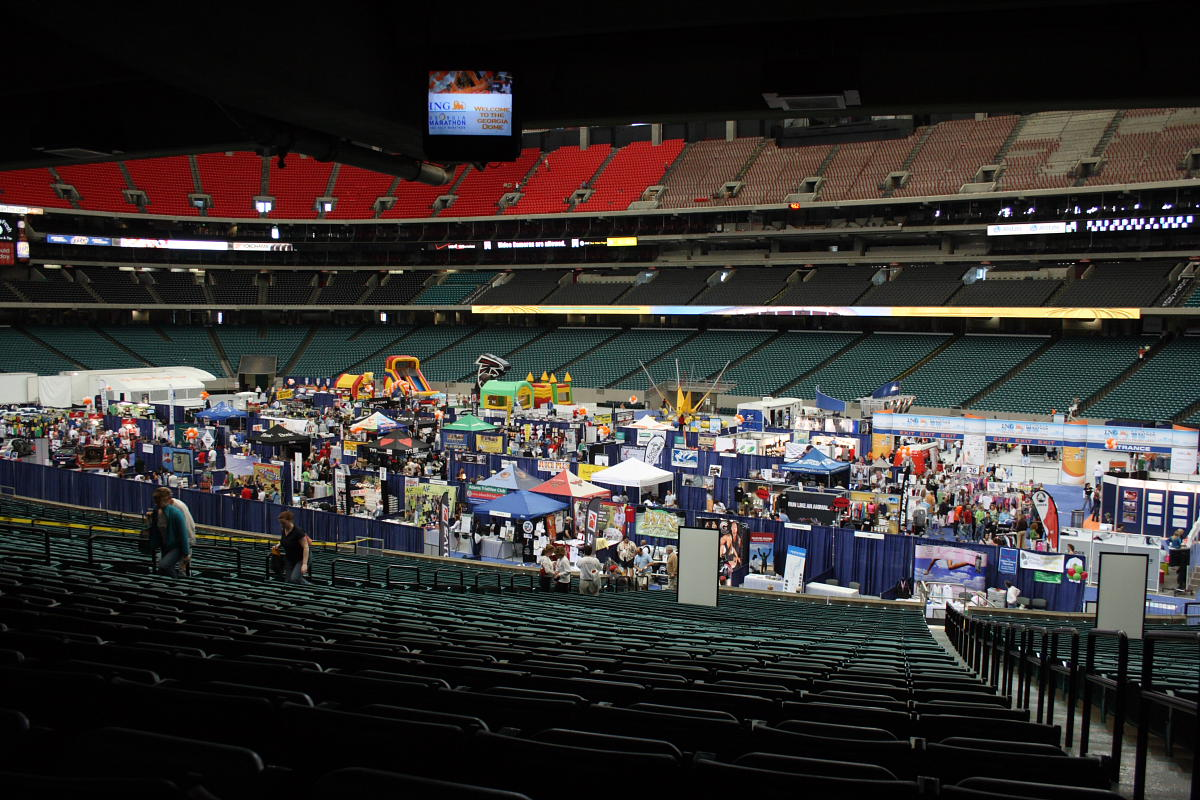 The expo in the Georgia Dome